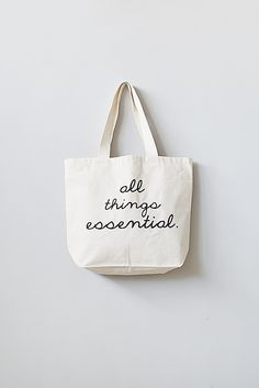 """""""All Things Essential"""" Tote Bag"""