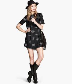 hm print dress