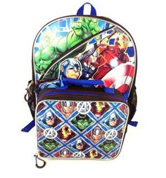 """2-for-1 deal withe the Marvel Avengers 16"""" Backpacks with Lunch Kit for only $12.88, plus get 2 SB for every dollar spent (more that 2%) on all your back to school fashion at Walmart"""