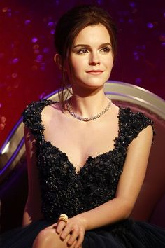 La statua di cera di Emma Watson a Madame Tussauds