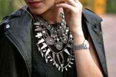 ZARA STATEMENT OVERSIZED TRIBAL NECKLACE AZTEC STUD SPIKE BLOGGER NAVAJO | eBay