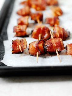 Bacon Wrapped Sweet Potatoes  #stiritupme