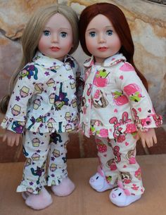 Fits American Girl Doll Flannel Pajamas are at www.harmonyclubdolls.com Harmony Club Dolls offer 18 inch Doll Fashion and 18 inch Doll shoes that FIT AMERICAN GIRL.