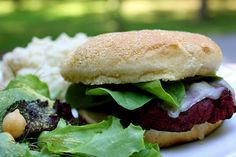 Black eyed Pea and Beet Burgers