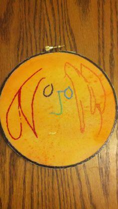Lennon embroidery