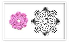 Patrones de flores de crochet
