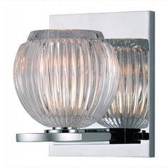 "HV-3161-PC - Odem 4"" Polished Chrome 1-Light Bathroom Light"