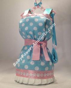 Dress Diaper Cake - Baby Girl Diaper Cakes - by Babyfavorsandgifts.com