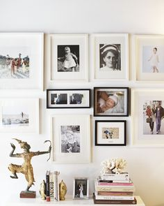 Great family photo wall #frames