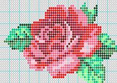 beading patterns, bead patterns, bead loom patterns, stitch, seed beads, rose pattern, native american beadwork