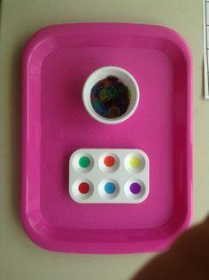 Preschool Activity Tray - counters