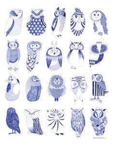 Karin Lindeskov- Owl street - for the walls
