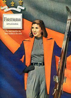 vintage designer forstmann ski fashion 1948