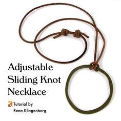 Adjustable Sliding Knot Necklace - tutorial by Rena Klingenberg