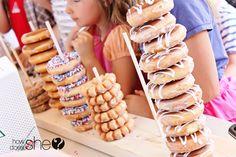Having doughnuts at your party? EASY and Creative DIY Display!    http://www.kensingtonrealestatebrokerage.com/agents/TiffanyWetherbee    www.northattleboromass.com    http://activerain.com/blogs/tifwetherbee