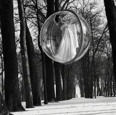 """In Trees,"" Paris   Harper's Bazaar, March 1963   photographer: Melvin Sokolsky   Simone d'Aillencourt"