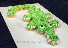 crocodile cakes, baby shower cupcakes, alligator cupcakes, crocodile cupcakes, allig cake, alligator baby shower cake, cupcake cakes, alligator cupcake cake, alligator cakes