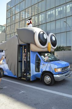 The #Hootsuite Bus was a frequent site on the streets of #Austin for #SXSWi #SXSW 2012