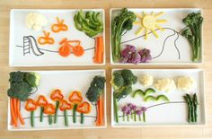 creative vegetable craft for kids