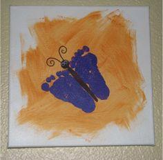 How to Make Handprint and Footprint Canvas Art