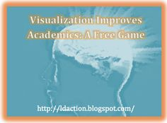 Come learn how visualization can improve academics and also learn about a free game!