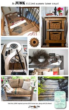 A JUNK filled summer home tour! Warning... photo AND junk heavy... bring your coffee along! via Funky Junk Interiors