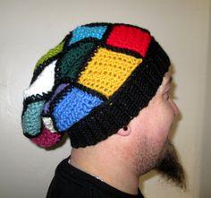 Patchwork Crochet Floppy Beanie by Lilydotcrochet on Etsy, £25.00