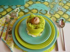 Fiestaware - Colors! Lemongrass Lime and Turquoise dishes