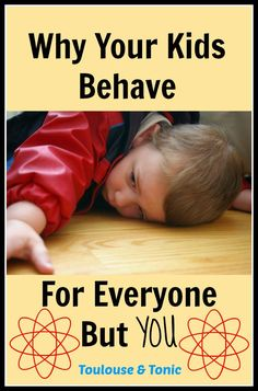 Does everyone tell you that your kids are a delight to take care of but with you they act like tasmanian devils?   #behavior #children