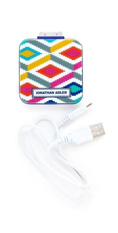 Portable charger from Jonathan Adler to revive your iPhone on-the-go!