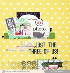 #papercraft #scrapbook #layout ~just the 3 of us~ - Scrapbook.com