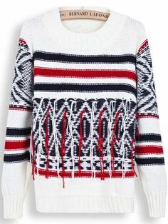 yarn fringe sweater