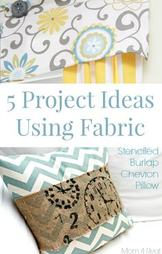 5 Fabric Project Ideas & My Go To Place For Fabric - Mom 4 Real