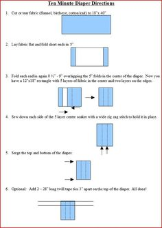 Directions for a 10 Minute Prefold