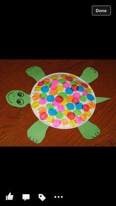 Turtle craft - print for teachers - with fingerprints for the spots on the shells. Teacher gift