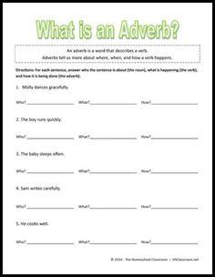 Adverb worksheets high school free
