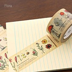 illustrated washi tape - flora