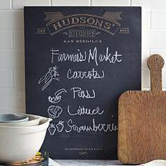 decor, kitchens, red envelop, chalkboards, kitchen note, kitchen chalkboard, note chalkboard, gift idea, person kitchen