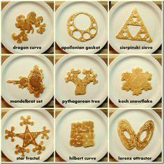 Hotcakes fractals kid pics, sea creatur, fractal pancak, geek food, sacred geometry, pancakes, fractals, pancake breakfast, kid breakfast