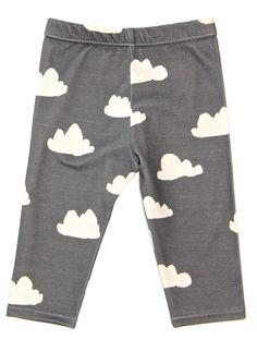 Salt City Emporium rain cloud print children leggings