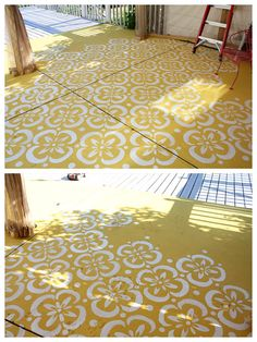 Painted Cement Patio On Pinterest