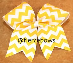 Chevron Cheer Bow on Etsy, $11.00