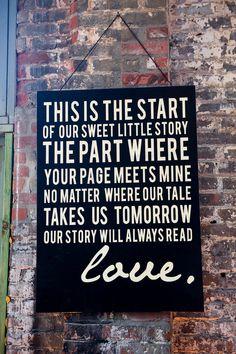 Beautiful sign. #wedding #zappos