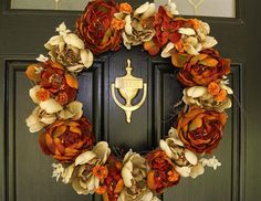 In search of a fall wreath. . . .this one is gorgeous.