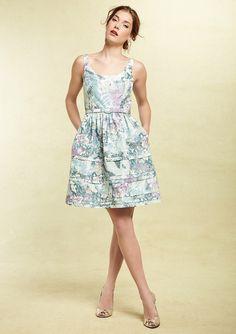 ELIZA J Self Belt Tiered Print Dress $170. Via Ideeli.