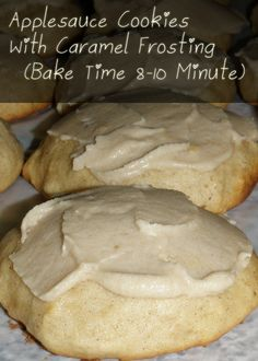 Applesauce cookies with caramel frosting