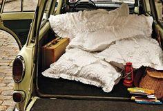ruffles bedding, camp, anthropologie, road trips, white, roads, pillows, roadtrip, ruffles