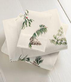 Evergreen Flannel Sheet Set: Sheet Sets   Free Shipping at L.L.Bean