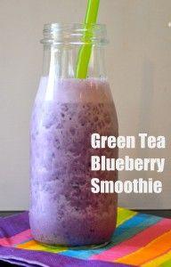 green tea blueberry smoothie
