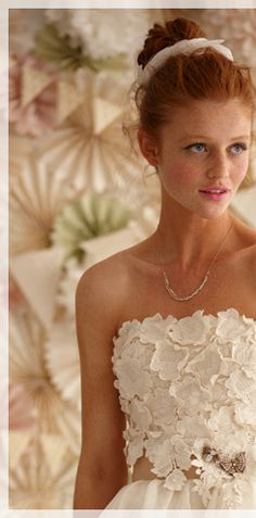 and it's my favorite girl again, this time for BHLDN, Anthropologie's bridal branch.  Does this count as stalking?